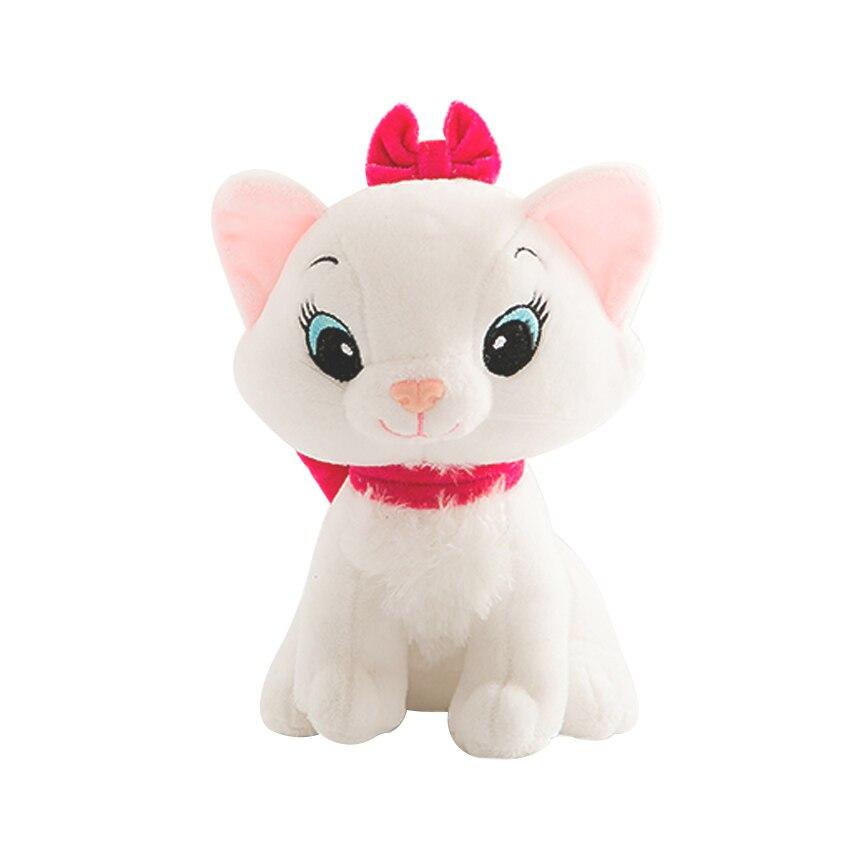 1pc 20cm The Aristocats Cat Plush Toys Marie Cat Plush Dolls Soft Cartoon Animals Kawaii Soft Cartoon Animals Toys For Children