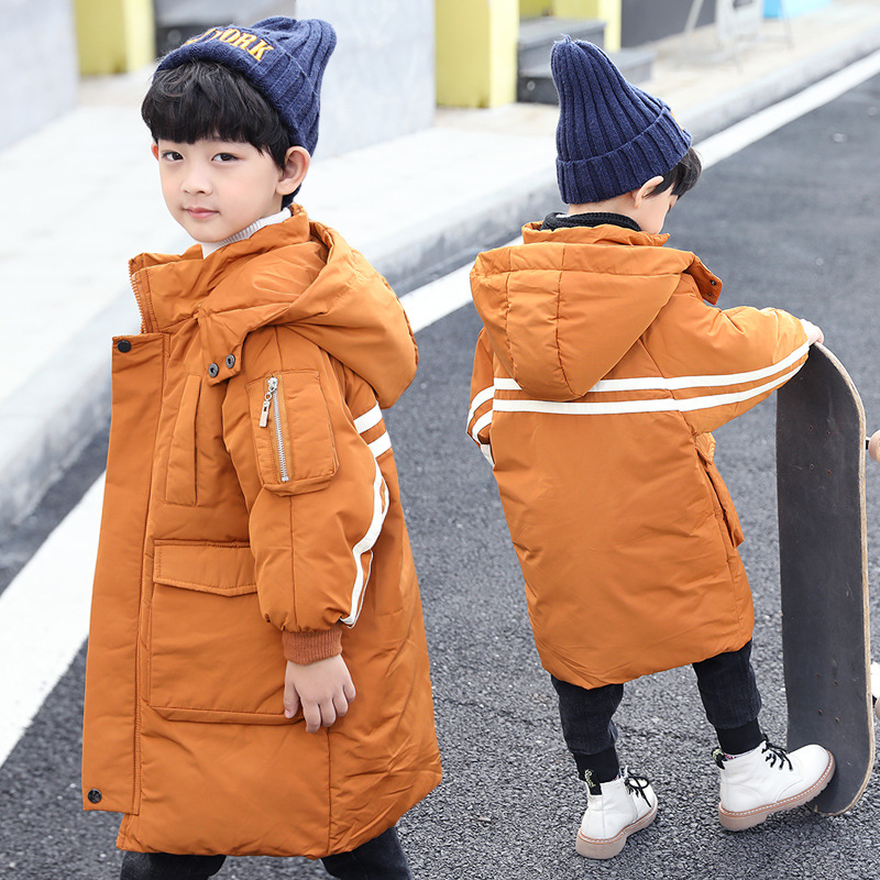 Children's Winter Jacket for Boy Warm Thick Hooded Kids Outerwear 2018 Brand Casual Fashion Boys Overcoats Parkas Clothing