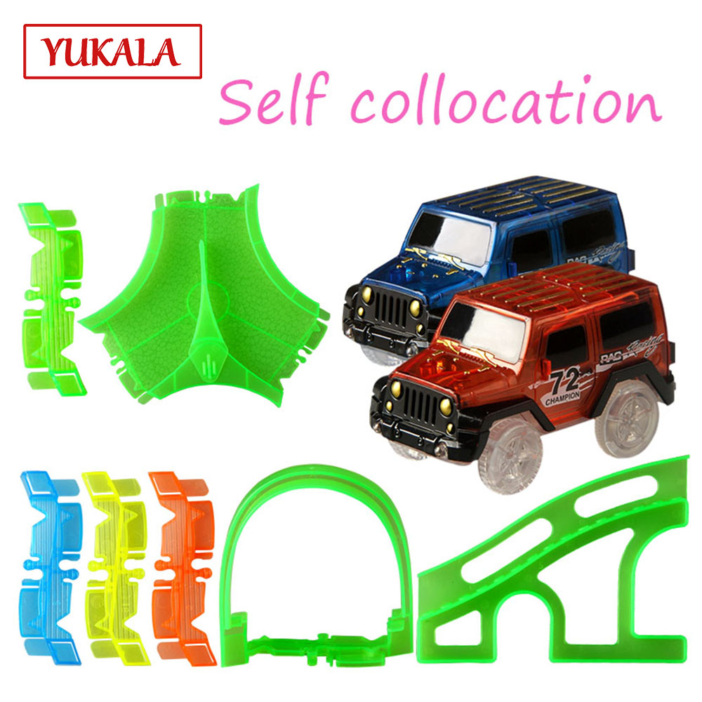 Luminous Track Cars Intersection/bridge/tunne Boys And Girls Toys Factory Race Track Accessories Free Combination Children's Toy