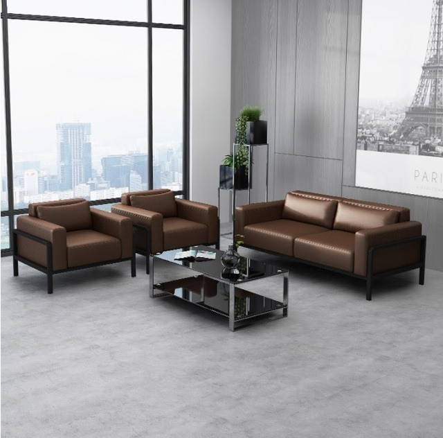 Office Waiting Room Sofa Set / Lobby Low Back Sofa With Cushion / Club  Chair Sofa