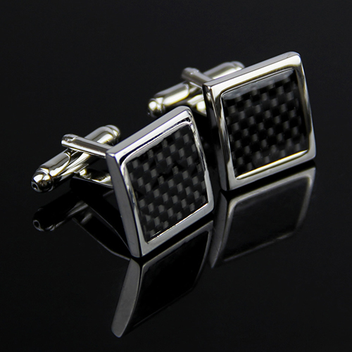 Stainless Steel Silver Vintage Men/'s Wedding Cufflinks Classical Grid Cuff Links