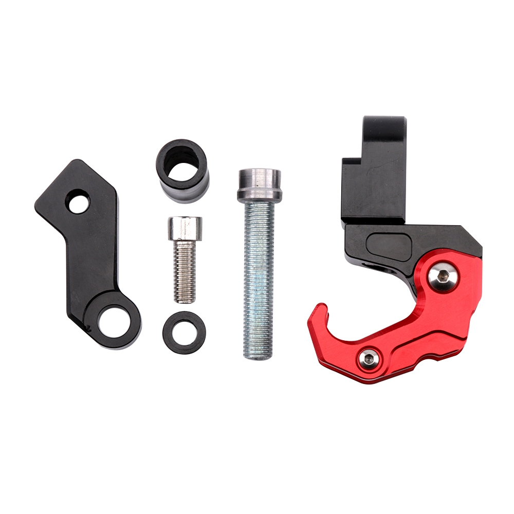 SMOK Motorcycle Accessories CNC Aluminum Alloy Folding Hanger Hook For Honda All New Forza 300 2018 (6)