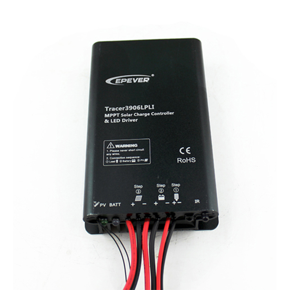EPSOLAR Tracer3906LPLI 15A 12V 24V Lithium Battery MPPT Solar Charge Controller with constant current LED Driver IP68 controller двухкамерный холодильник atlant хм 6026 080