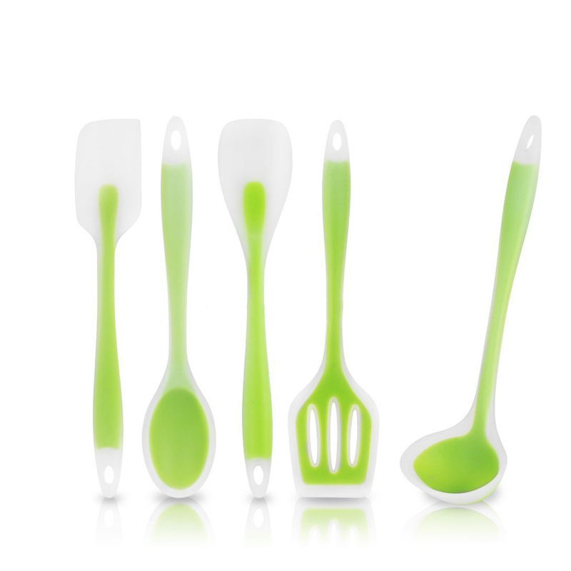 BEEMSK 7PCS SET 5PCS SET food grade silicone kitchenware transparent green high quality high temperature silicone scraper in Utensil Sets from Home Garden