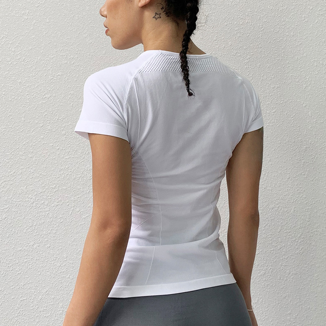 BINAND Yoga Top Gym Sport Shirt Women Sports Top Women's T-shirt Quick Dry Running T-shirt Fitness Slim Workout Tops For Women 3