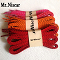 Mr.Niscar 5 Pair Polyester Flat Shoelaces for Canvas Shoes Oblique Stripes Colored Shoe Laces Casual Sports Laces Strings Rope