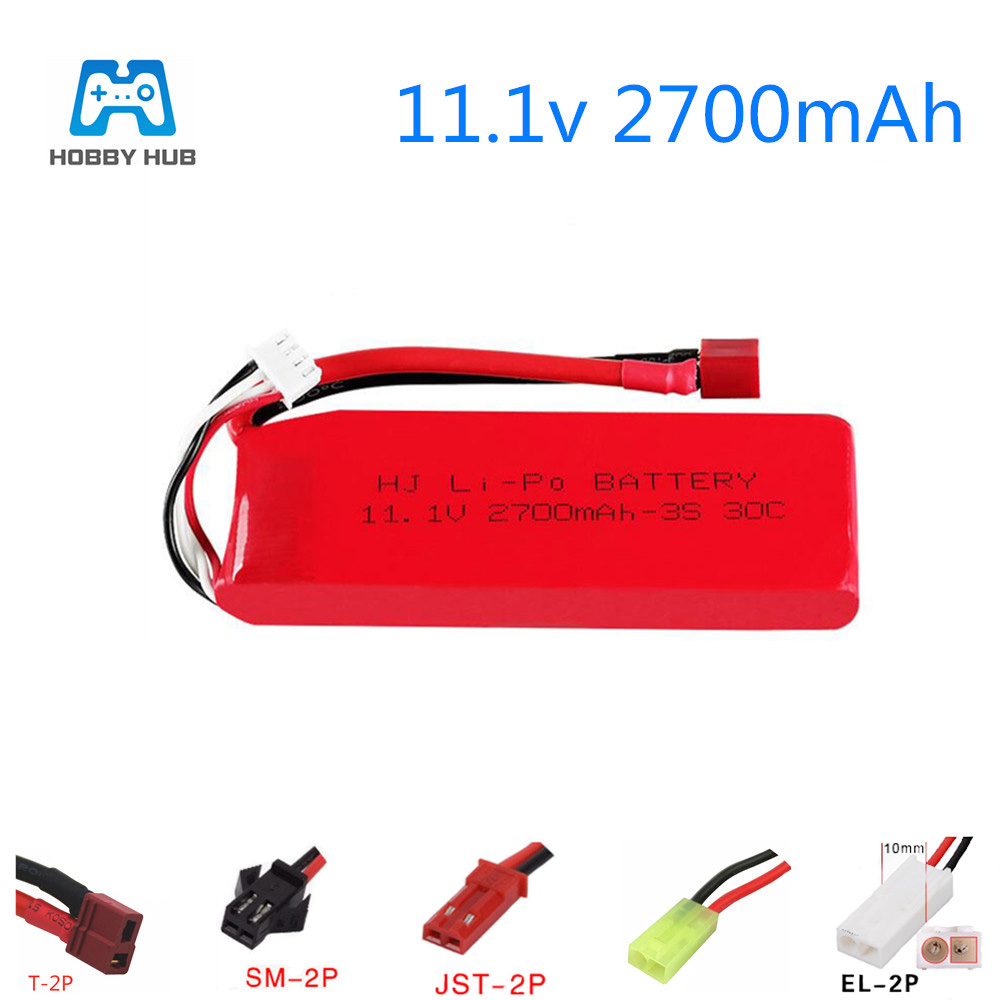 <font><b>11.1v</b></font> <font><b>2700mah</b></font> 30c <font><b>lipo</b></font> <font><b>battery</b></font> for flywheel FT012 RC boat speedboat ring odd 734 high speed car large capacity <font><b>11.1V</b></font> 3S <font><b>battery</b></font> image