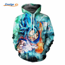 2017 Covrlge Men's Hoodies Christmas Dragon Ball 3D Printed Anime Casual New Pullover  Free Shipping Men's Clothing M-5XL MWW081