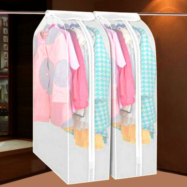Three Dimensional Type Transpa Suit Dust Cover Zipper Coat Suits Clothes Bags Sweater Storage