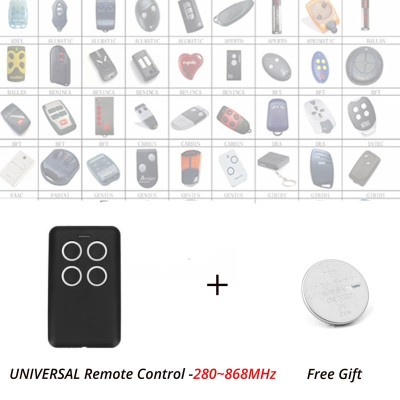3pcs Multi Frequency 280-868MHz Replacement Garage Door Remote Controller Rolling Code & Fixed Code цены