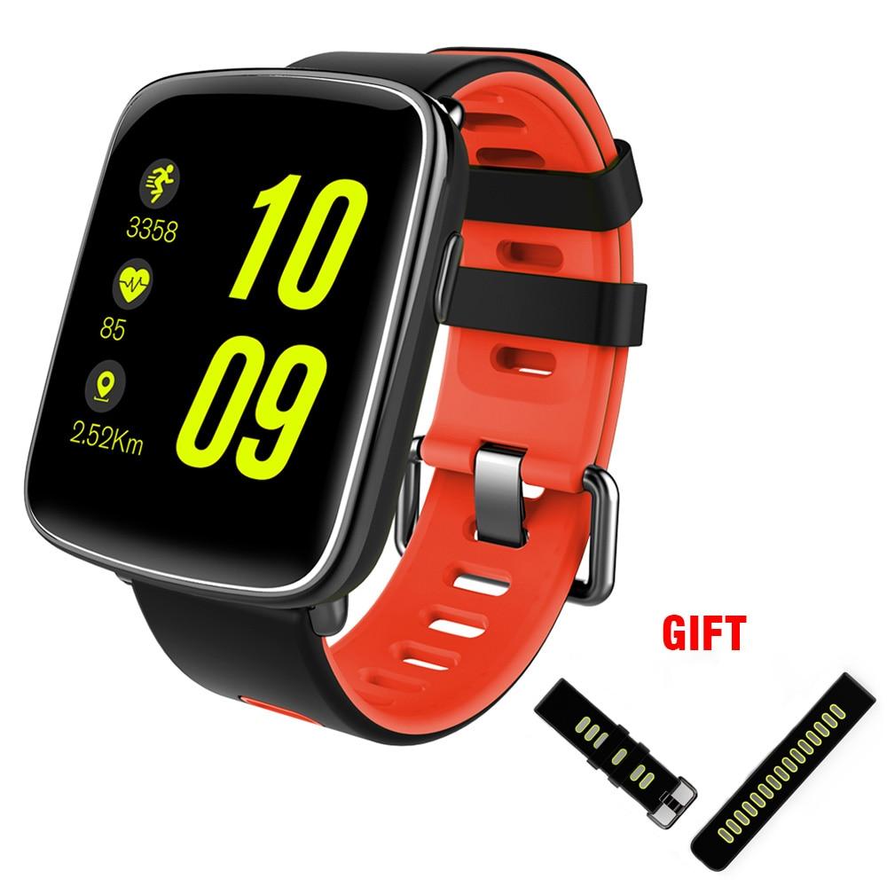 Kaimorui Smart Watch IP68 Անջրանցիկ սրտի կշիռը փոխարինելի ժապավենով Android- ի և IOS- ի համար `Bluetooth սմարթֆոնի լողանալու համար