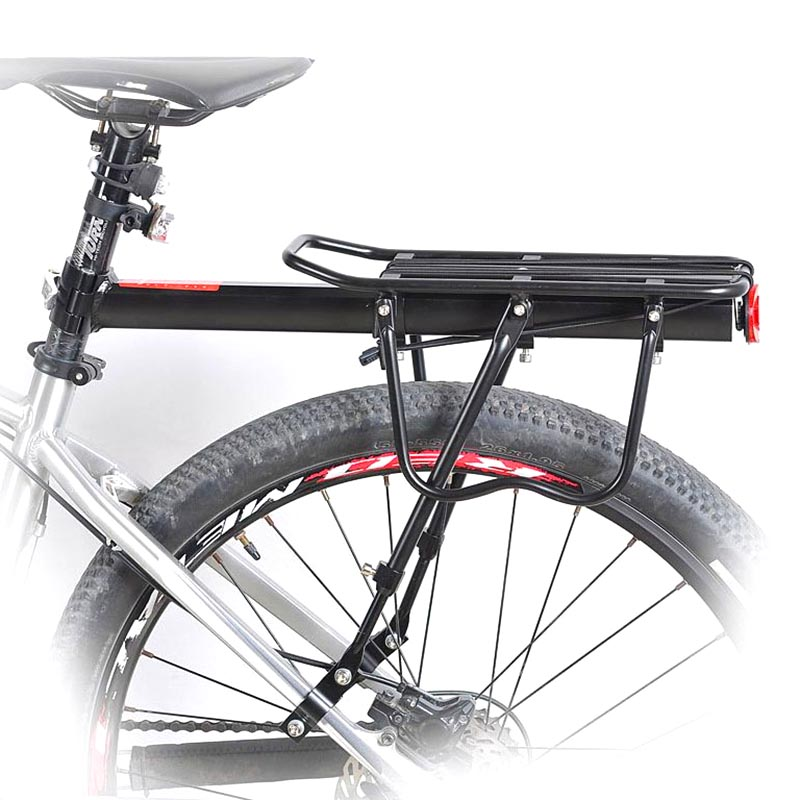 Bicycle Bike Rear Seat Rack Aluminum Alloy For Cycling Touring Carrier Disc Brake Mount EDF88|Bicycle Frame| |  - title=