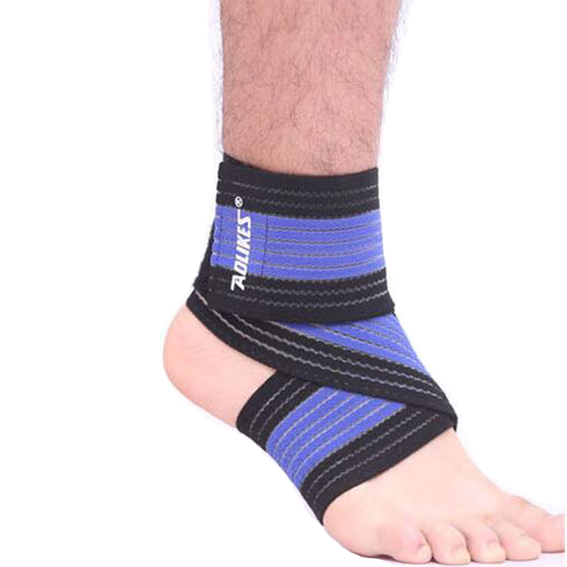 1pc High Quality Ankle Support Spirally Wound Bandage Wrap Volleyball Basketball Protection Adjustable Elastic Bands