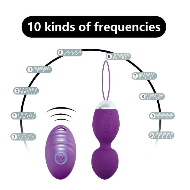 10 Frequency Vibrator Kegel Ball Tightening Device Balls USB Rechargeable Wireless Remote Love Balls Sex Toys for Women Vagina Balls