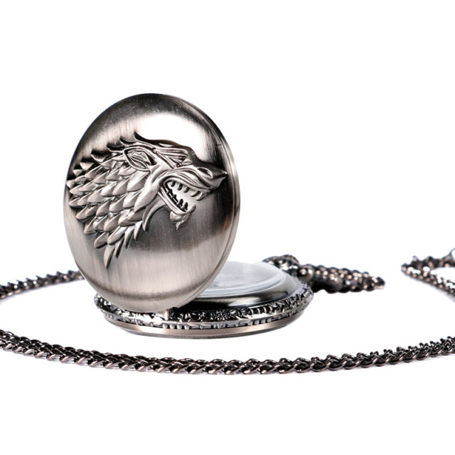 Hot TV Series Game of Thrones Stark House Symbol Fashion Vintage Modern Quartz Retro  Women Men Necklace Chain Christmas Gifts