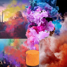 1pcs Smoke Cake Colorful Smoke Effect Show Round Bomb Stage Photography Aid Party Stage Studio Photography Props Magic Light(China)