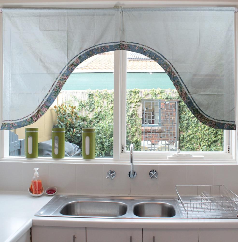 ⊰Grado superior cortinas cenefa swag de Arco Exquisito Jacquard ...