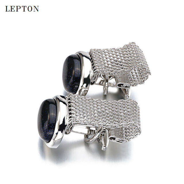 Luxury Red Cufflinks Mens Lepton Shirt Cuffs Cufflink High Ellipse Stone Cuff Links Gemelos