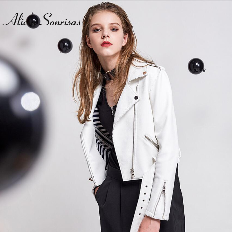 New 2018 Women Spring Black   Leather   Jacket Women Short Silm Snake PU Biker Coats Motorcycle Jackets Perfecto Femme Cuir AS1001
