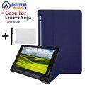 "Ultra fino inteligente pu caso capa de couro stand case capa para 2015 lenovo yoga tab 3 8 ""850F tablet + free film + stylus livre"
