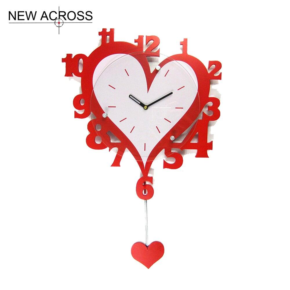 gohide 1 pz arredamento per la casa amore rosso forma orologio digitale cucina di casa camera