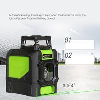 Зеленый свет лазерный уровень 5/8 линия Открытый 360 градусов горизонтальный вертикальный крест лазерный высокий самонивелирующий строитель
