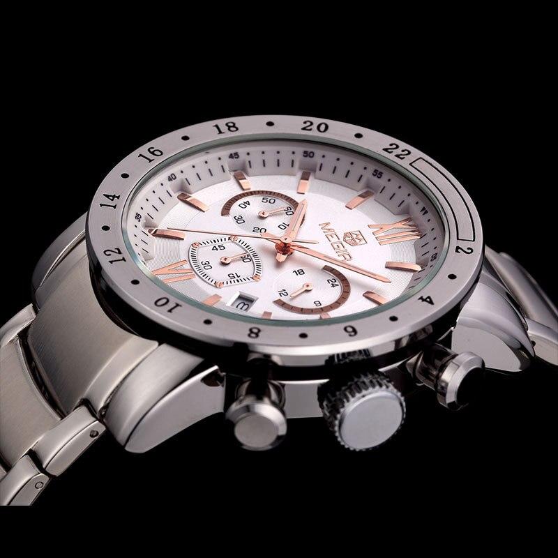 MEGIR roestvrij staal lichtgevende herenhorloges Top luxe merk - Herenhorloges - Foto 5