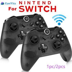 Image 1 - EastVita 1 adet/2 adet Bluetooth kablosuz Pro denetleyici Gamepad Joypad uzaktan nintendo anahtarı konsolu için Gamepad Joystick r25