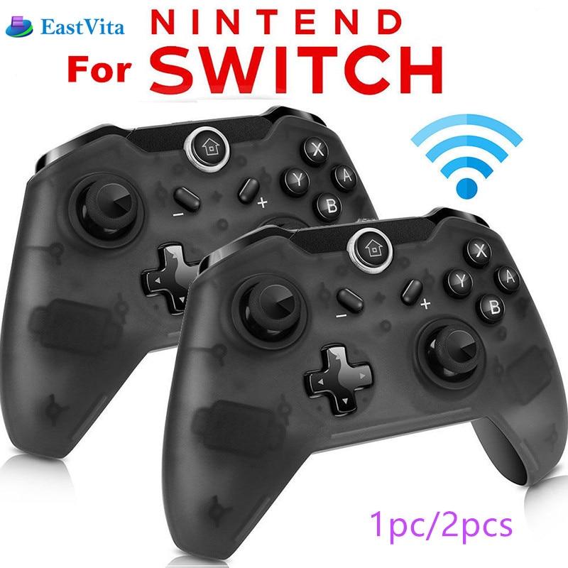 EastVita 1pc/2pcs Bluetooth Wireless Pro Controller Gamepad Joypad Remote for Nintend Switch Console Gamepad Joystick r25(China)