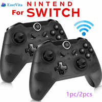 EastVita 1pc/2pcs Bluetooth Wireless Pro Controller Gamepad Joypad Remote for Nintend Switch Console Gamepad Joystick r25