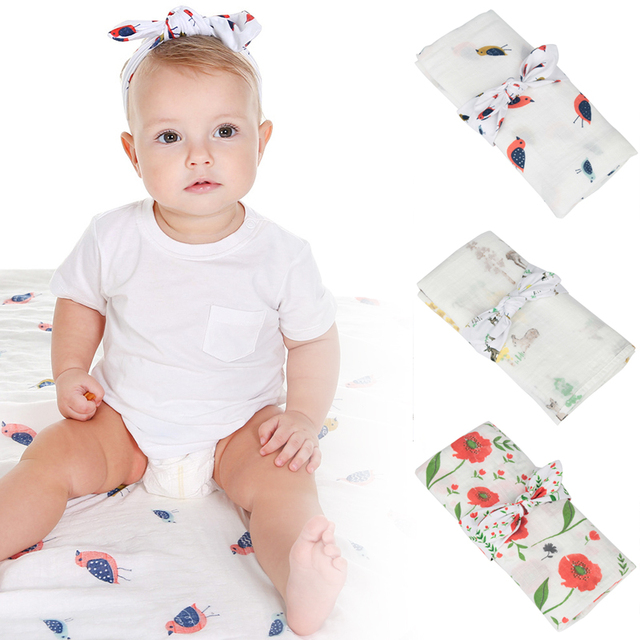 Baby Wrapped Blanket Baby Crawling Bed Sheet Boy And Girl Headwear