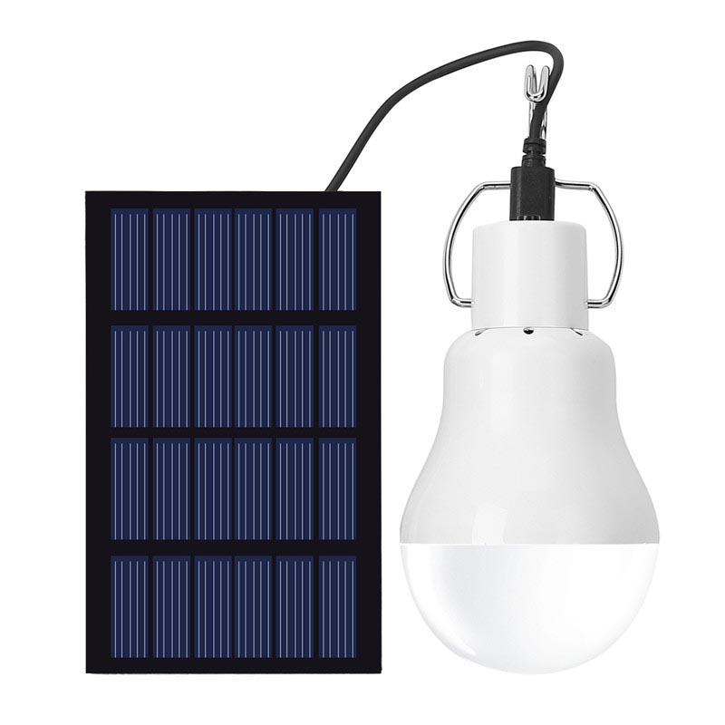 1.5W solar panel power portable led bulb light engegy lamp camp tent night outdoor survival camping equipment sport solar garden