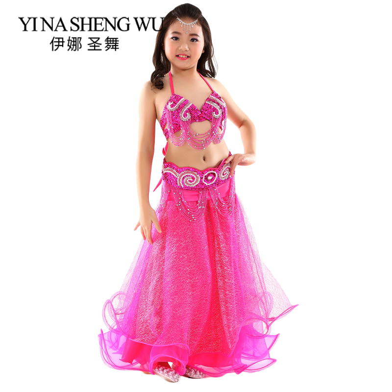 New Children Belly Dance Costumes Girls Dance Performance Clothing Kids Oriental Dance India Belly Dance Costumes 2Pcs/3Pcs Sets