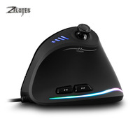 ZELOTES C 18 Vertical Wired USB 10000 DPI A Optical Gaming Mouse 12 Programmable Buttons Computer Game Mice5Adjustable DPI