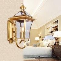 Золото настенный светильник наружного освещения Золотой Водонепроницаемый светодиодный снаружи бра настенный светильник садовые светиль