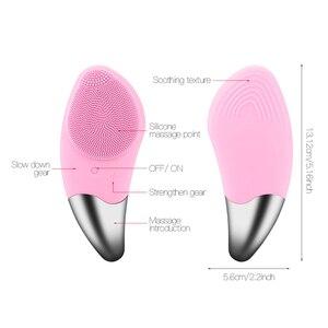 Image 5 - מיני חשמלי פנים ניקוי מברשת סיליקון סוניק פנים מנקה עמוק נקבובית ניקוי עור לעיסוי פנים ניקוי מברשת מכשיר