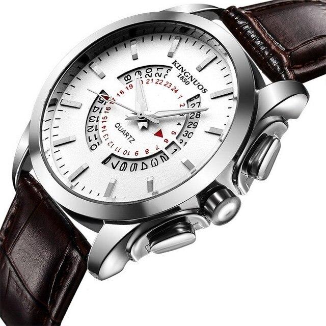 563d951b05a KINGNOUS Masculino Cronógrafo Luminosa Mens Relógios Marca de Luxo Militar  relógios de Pulso Horas de Relógio