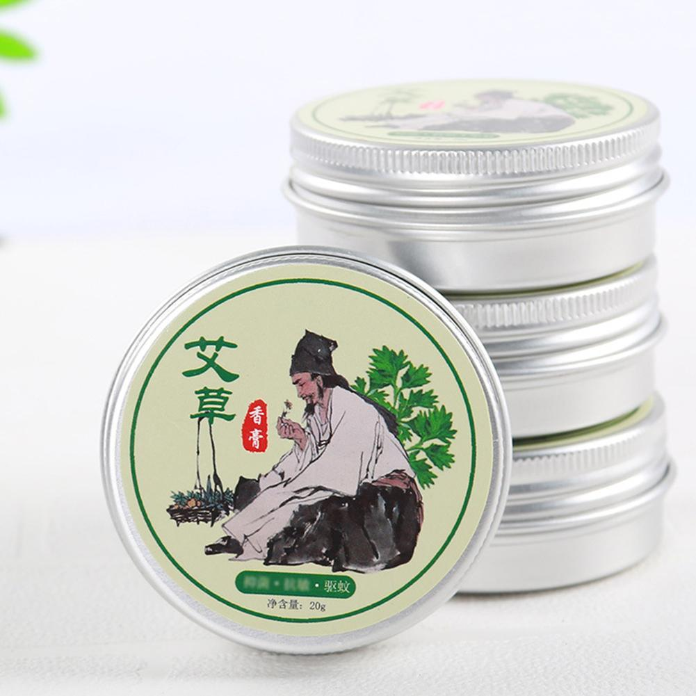 Wormwood Extract Cooling Balm Ointment For Anti Mosquito Headache Toothache Stomachache Dizziness Essential Balm Oil Refreshing