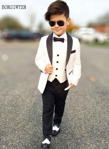 BONSIWTXN 2019 少年スーツウェディングフォーマルウェディングパーティー男の赤ちゃん用ブレザー子供服スーツブレザーため 3 パイ