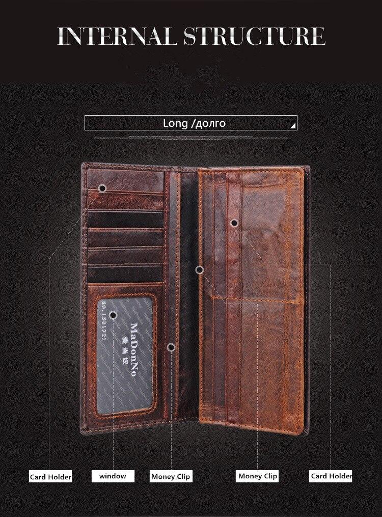 couro genuíno carteira dos homens Composição : Cowhide