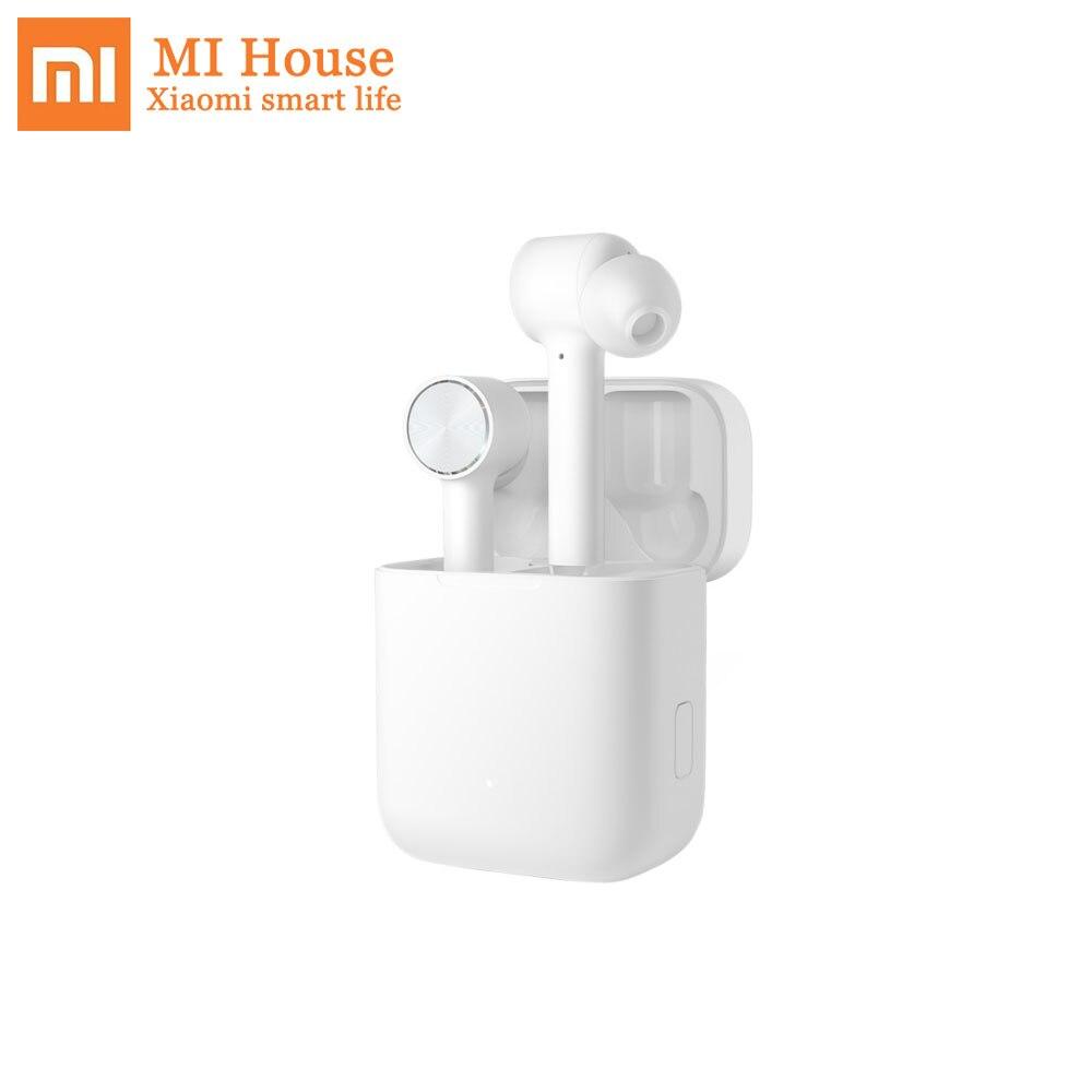 Original Xiaomi Bluetooth casque Air TWS Bluetooth 4.2 ACC HD IPX4 étanche avec boîtier de charge écouteur pour ios et android