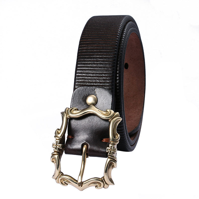 298 genuine cowhide leather brass metal buckle super quality durable stylish handmade belt