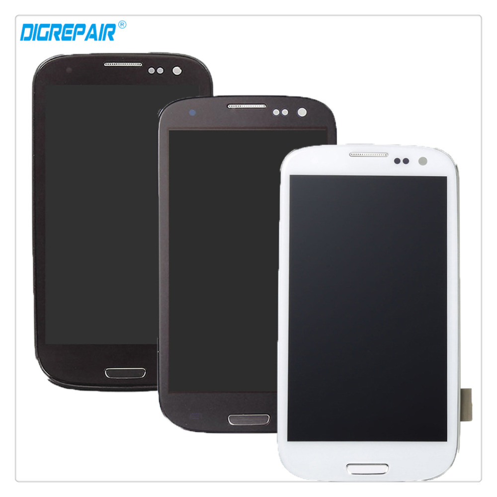 100 New High Quality Black White Blue For Samsung Galaxy S3 i9300 LCD Display Digitizer Touch