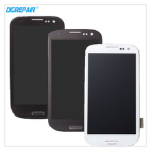 100% новый Высококачественная обувь черного цвета/белый/синий для Samsung Galaxy S3 i9300 ЖК-дисплей Дисплей планшета Сенсорный экран сборки Запчасти для авто