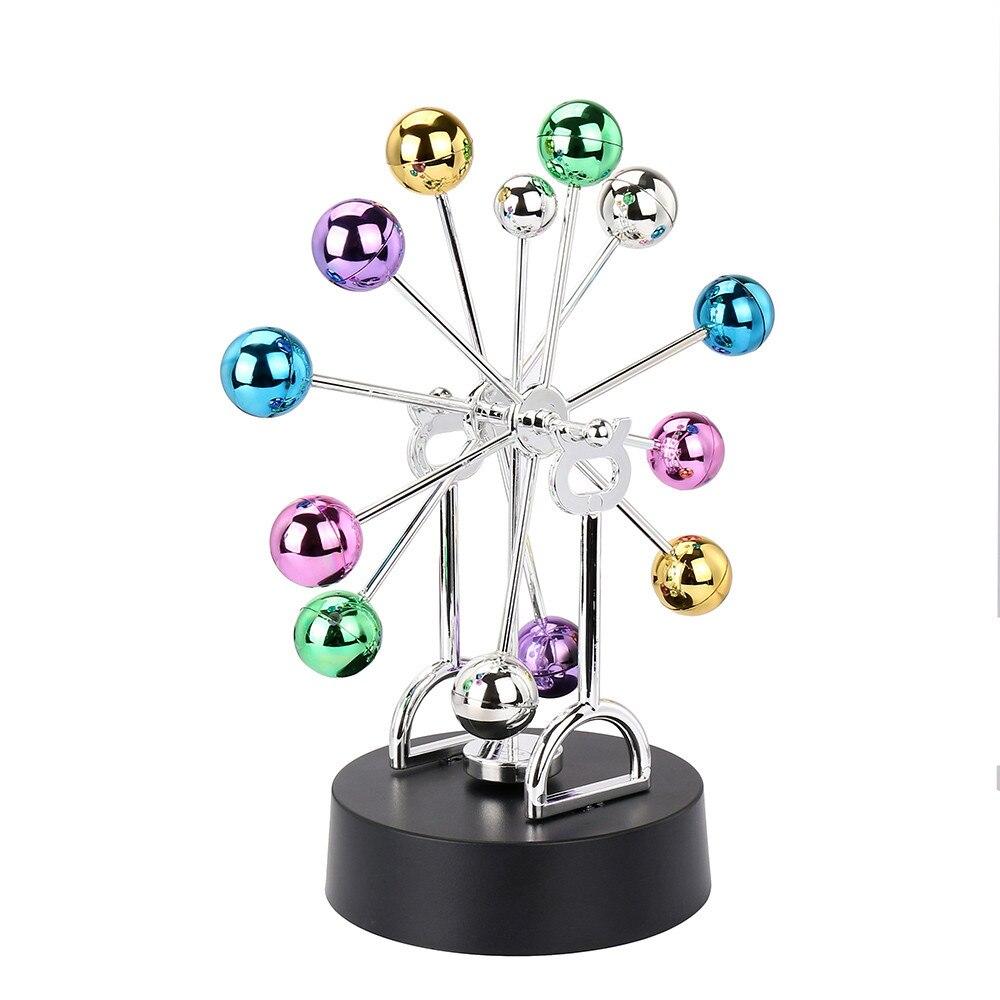 Electronic Perpetual Motion Desk Toy Revolving Balance Balls Physics Science Toy intelligent development Toys A# DROPSHIP