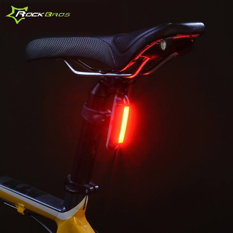 ROCKBROS Rechargeable Safety Rear Light Bicycle Light Mountain Bike Tail Lamp Bike Cycling Waterproof LED With USB RK0015 rockbros bicycle spoke light