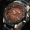 Novo NAVIFORCE relógios homens marca de luxo militar assista homens de aço completa relógios de pulso de ouro da moda à prova d' água relogio masculino