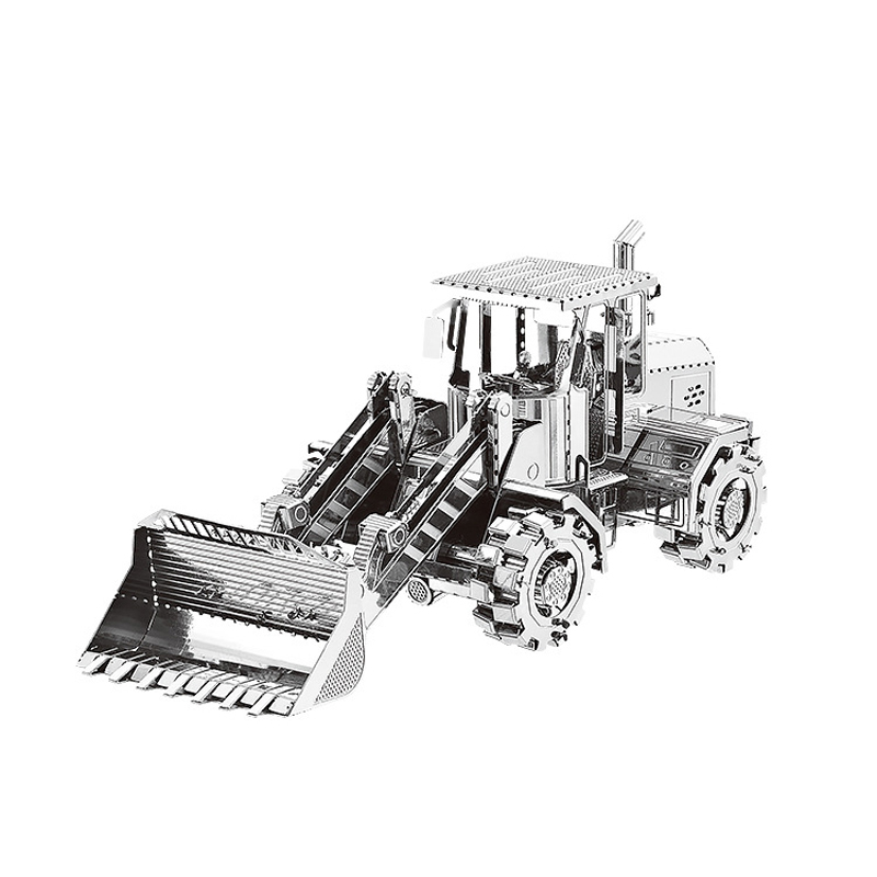 Nan Yuan 3D Metal Puzzle Bulldozer Construction Cars DIY Laser Cut Puzzles Jigsaw Model For Adult Child Kids Educational Toys