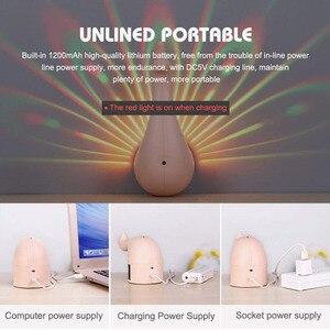 Image 5 - Coquimbo 孔雀プロジェクターランプ 7 色 USB 充電式雌のクジャク壁回廊ライト子供子供のための Led ナイトライトルーム