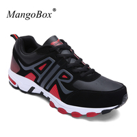 KERZER Big Size Mens Sports Shoes Running Brand 2017 Athletic Jogging Sneakers Black Red Sport Trainers
